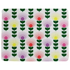 Floral Wallpaer Pattern Bright Bright Colorful Flowers Pattern Wallpaper Background Jigsaw Puzzle Photo Stand (rectangular) by Simbadda