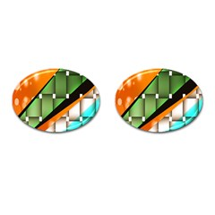 Abstract Wallpapers Cufflinks (oval) by Simbadda