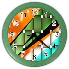 Abstract Wallpapers Color Wall Clocks by Simbadda