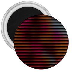 Colorful Venetian Blinds Effect 3  Magnets by Simbadda
