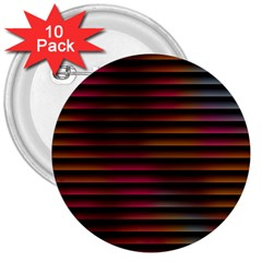 Colorful Venetian Blinds Effect 3  Buttons (10 Pack)  by Simbadda