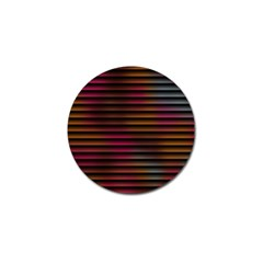 Colorful Venetian Blinds Effect Golf Ball Marker (4 Pack) by Simbadda
