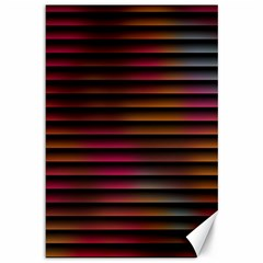 Colorful Venetian Blinds Effect Canvas 12  X 18