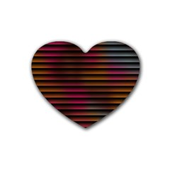 Colorful Venetian Blinds Effect Heart Coaster (4 Pack)  by Simbadda