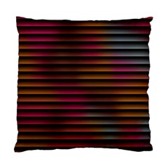 Colorful Venetian Blinds Effect Standard Cushion Case (one Side) by Simbadda