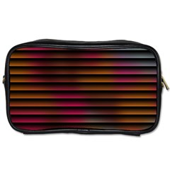 Colorful Venetian Blinds Effect Toiletries Bags 2 Side by Simbadda