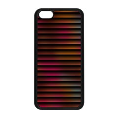 Colorful Venetian Blinds Effect Apple Iphone 5c Seamless Case (black) by Simbadda