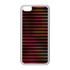 Colorful Venetian Blinds Effect Apple Iphone 5c Seamless Case (white)