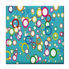 Circles Abstract Color Tile Coasters
