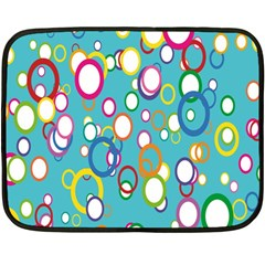Circles Abstract Color Fleece Blanket (mini) by Simbadda
