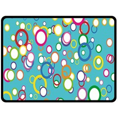 Circles Abstract Color Fleece Blanket (large)