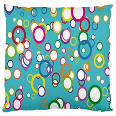 Circles Abstract Color Large Cushion Case (one Side)