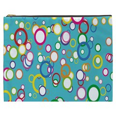 Circles Abstract Color Cosmetic Bag (xxxl)