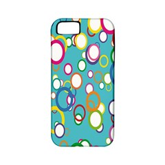 Circles Abstract Color Apple Iphone 5 Classic Hardshell Case (pc+silicone) by Simbadda