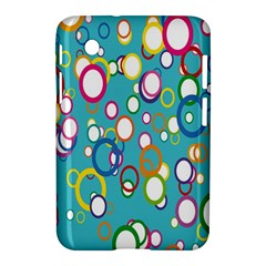 Circles Abstract Color Samsung Galaxy Tab 2 (7 ) P3100 Hardshell Case  by Simbadda