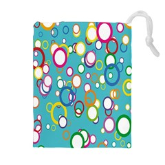 Circles Abstract Color Drawstring Pouches (extra Large) by Simbadda
