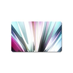Flower Petals Abstract Background Wallpaper Magnet (name Card) by Simbadda