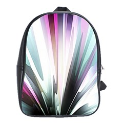 Flower Petals Abstract Background Wallpaper School Bags(large)