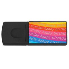 Colorful Happy Birthday Wallpaper Usb Flash Drive Rectangular (4 Gb) by Simbadda