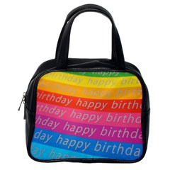 Colorful Happy Birthday Wallpaper Classic Handbags (one Side) by Simbadda