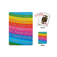Colorful Happy Birthday Wallpaper Playing Cards (mini)