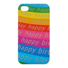 Colorful Happy Birthday Wallpaper Apple Iphone 4/4s Premium Hardshell Case by Simbadda