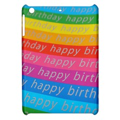 Colorful Happy Birthday Wallpaper Apple Ipad Mini Hardshell Case by Simbadda