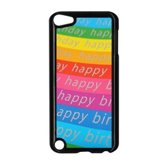 Colorful Happy Birthday Wallpaper Apple Ipod Touch 5 Case (black) by Simbadda