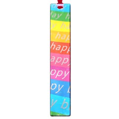 Colorful Happy Birthday Wallpaper Large Book Marks by Simbadda