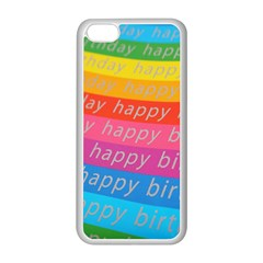 Colorful Happy Birthday Wallpaper Apple Iphone 5c Seamless Case (white) by Simbadda
