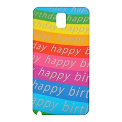 Colorful Happy Birthday Wallpaper Samsung Galaxy Note 3 N9005 Hardshell Back Case