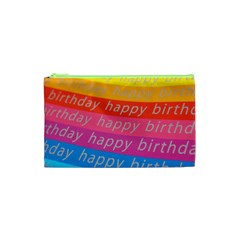 Colorful Happy Birthday Wallpaper Cosmetic Bag (xs)