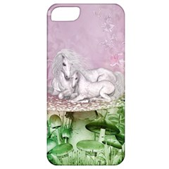 Wonderful Unicorn With Foal On A Mushroom Apple Iphone 5 Classic Hardshell Case by FantasyWorld7