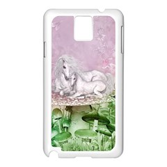 Wonderful Unicorn With Foal On A Mushroom Samsung Galaxy Note 3 N9005 Case (white) by FantasyWorld7