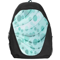 Abstract Background Teal Bubbles Abstract Background Of Waves Curves And Bubbles In Teal Green Backpack Bag by Simbadda