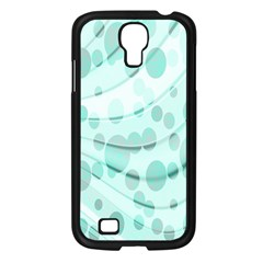 Abstract Background Teal Bubbles Abstract Background Of Waves Curves And Bubbles In Teal Green Samsung Galaxy S4 I9500/ I9505 Case (black) by Simbadda