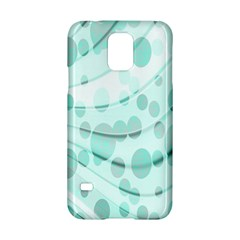Abstract Background Teal Bubbles Abstract Background Of Waves Curves And Bubbles In Teal Green Samsung Galaxy S5 Hardshell Case  by Simbadda