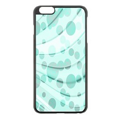 Abstract Background Teal Bubbles Abstract Background Of Waves Curves And Bubbles In Teal Green Apple Iphone 6 Plus/6s Plus Black Enamel Case