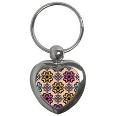 Abstract Seamless Background Pattern Key Chains (heart)
