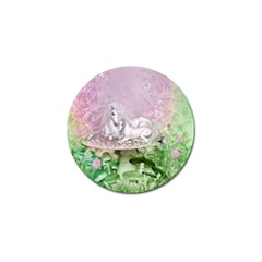 Wonderful Unicorn With Foal On A Mushroom Golf Ball Marker (10 Pack) by FantasyWorld7