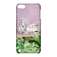 Wonderful Unicorn With Foal On A Mushroom Apple Ipod Touch 5 Hardshell Case With Stand by FantasyWorld7
