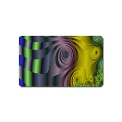 Fractal In Purple Gold And Green Magnet (name Card) by Simbadda