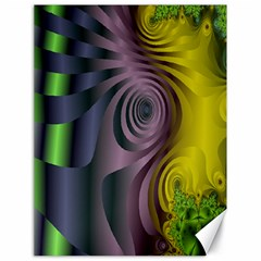 Fractal In Purple Gold And Green Canvas 18  X 24   by Simbadda