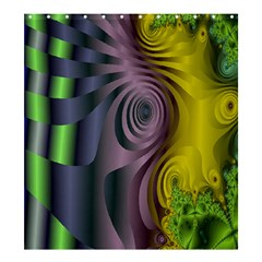 Fractal In Purple Gold And Green Shower Curtain 66  X 72  (large)  by Simbadda
