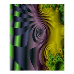 Fractal In Purple Gold And Green Shower Curtain 60  X 72  (medium)  by Simbadda