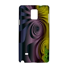 Fractal In Purple Gold And Green Samsung Galaxy Note 4 Hardshell Case by Simbadda