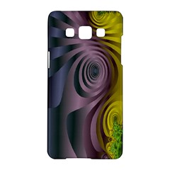 Fractal In Purple Gold And Green Samsung Galaxy A5 Hardshell Case  by Simbadda