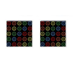 Happy Birthday Colorful Wallpaper Background Cufflinks (square)
