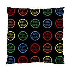 Happy Birthday Colorful Wallpaper Background Standard Cushion Case (two Sides) by Simbadda