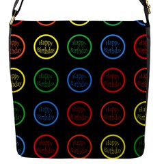 Happy Birthday Colorful Wallpaper Background Flap Messenger Bag (s) by Simbadda
